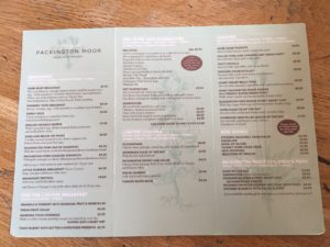 Packington Moor Farm Menu