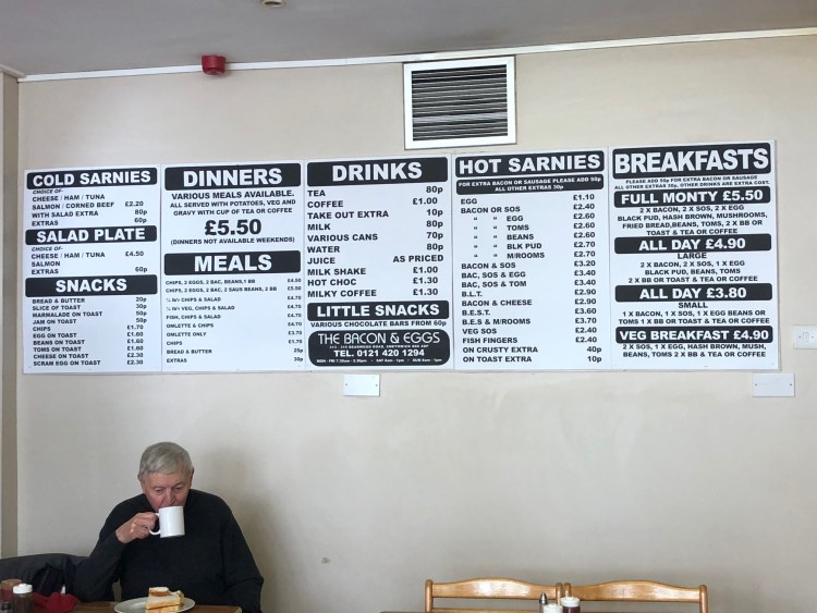 Bacon and Eggs Menu