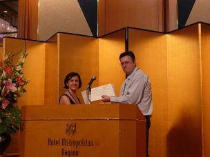 2008 winner, Denisa Hulicova-Jurcakova, with committee chairman Gareth Neighbour