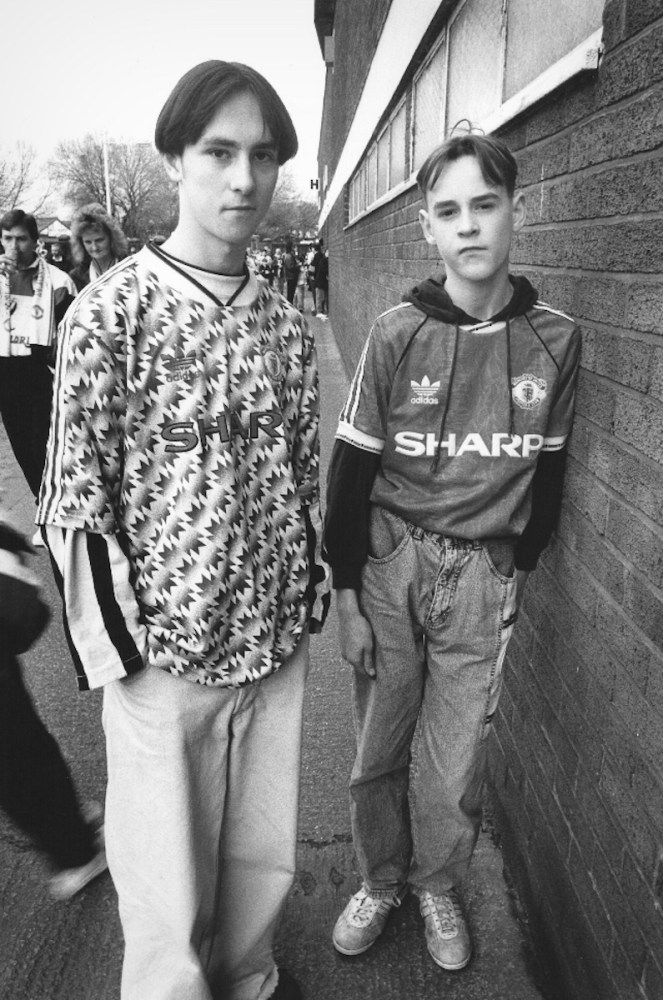 Manchester United Fans outside Old Trafford, 1991.