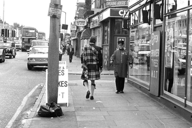 """Old Kent Road, 1982. Martyn: """"This shot sets the time when London was still scuzzy, messy, dangerous and very exciting. You would never know what was round the corner, especially the Old Kent Road in 1982"""". Photo © Martyn Goodacre."""