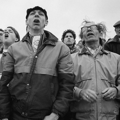 Fans at Saltergate, Chesterfield, 1992.