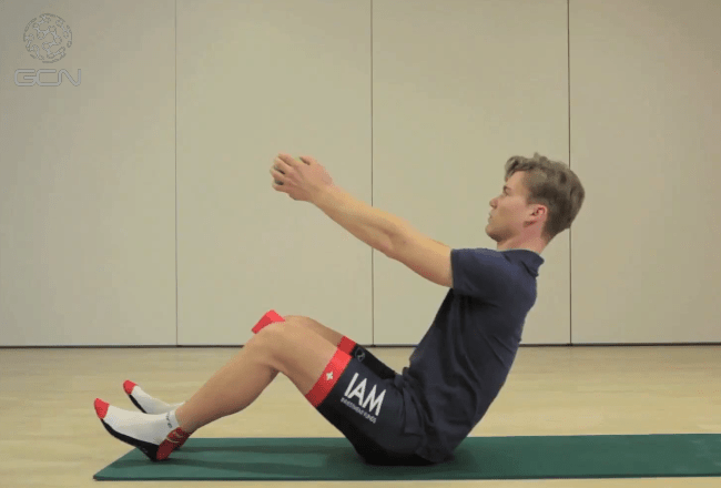 Stretching with IAM Pro Cycling