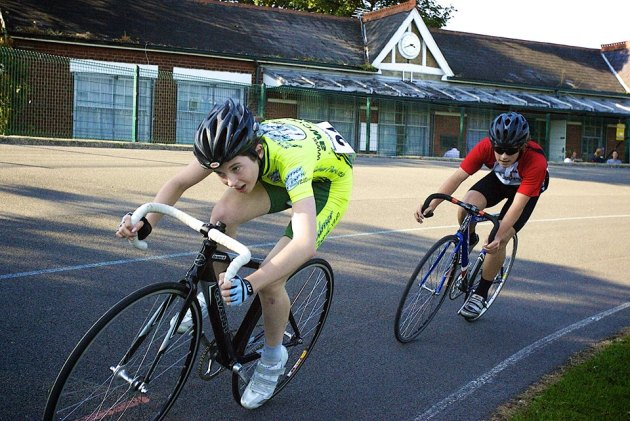 The Wednesday evening track league is well attended with many youth and junior riders