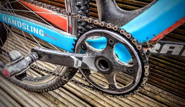 I'll be running SRAM's CX1 set up on the CX Century. Don't forget a bottle of lube, the dust can be a killer