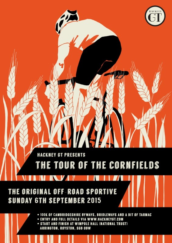 Hackney GT have produced a striking poster for the 2015 Tour of the Cornfields