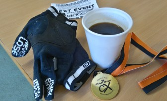 Ride over, coffee and medal well earnt!