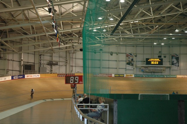 Venue for the record attempt was the Newport Velodrome