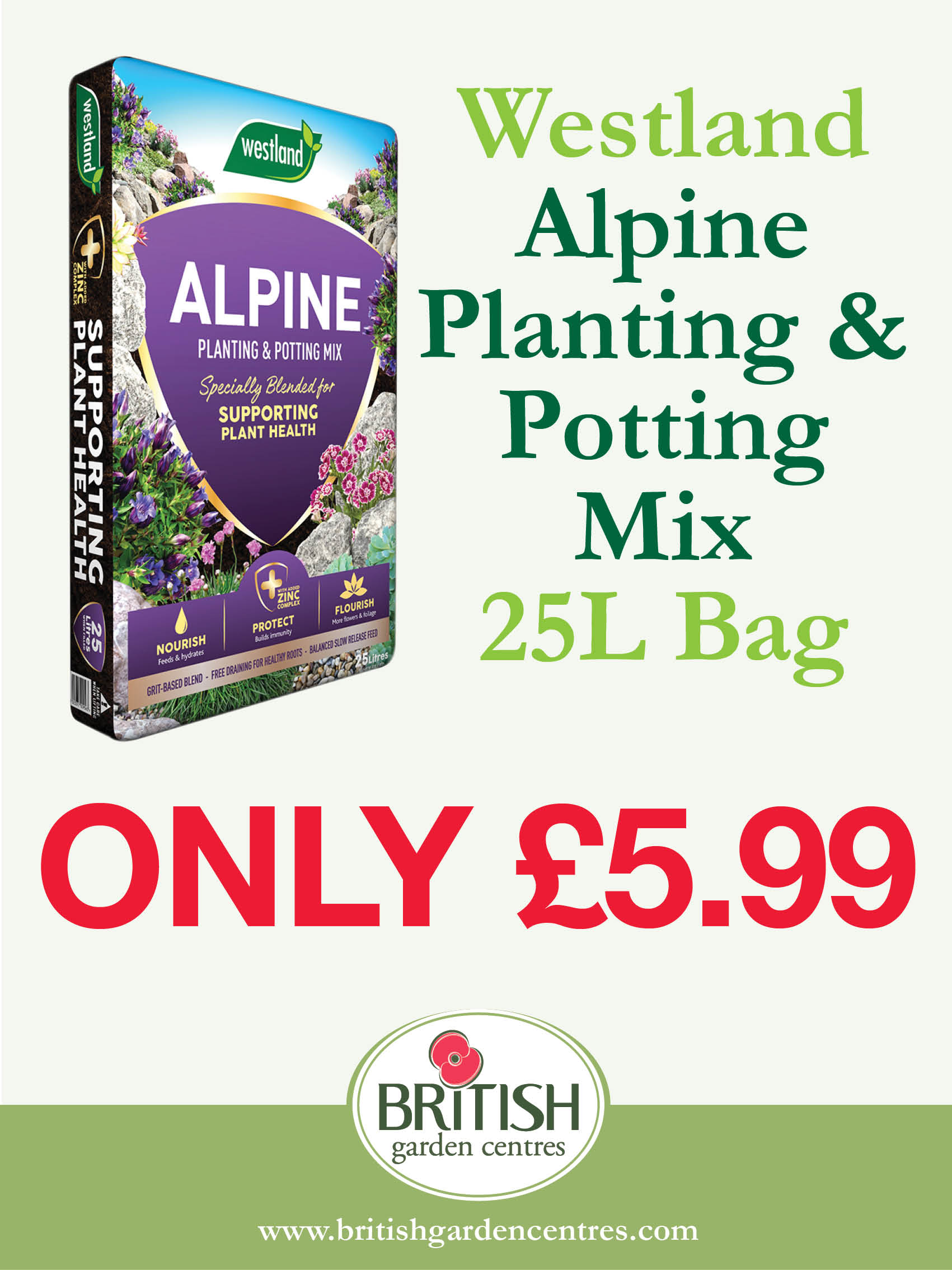Alpine Planting & Potting Mix 25L
