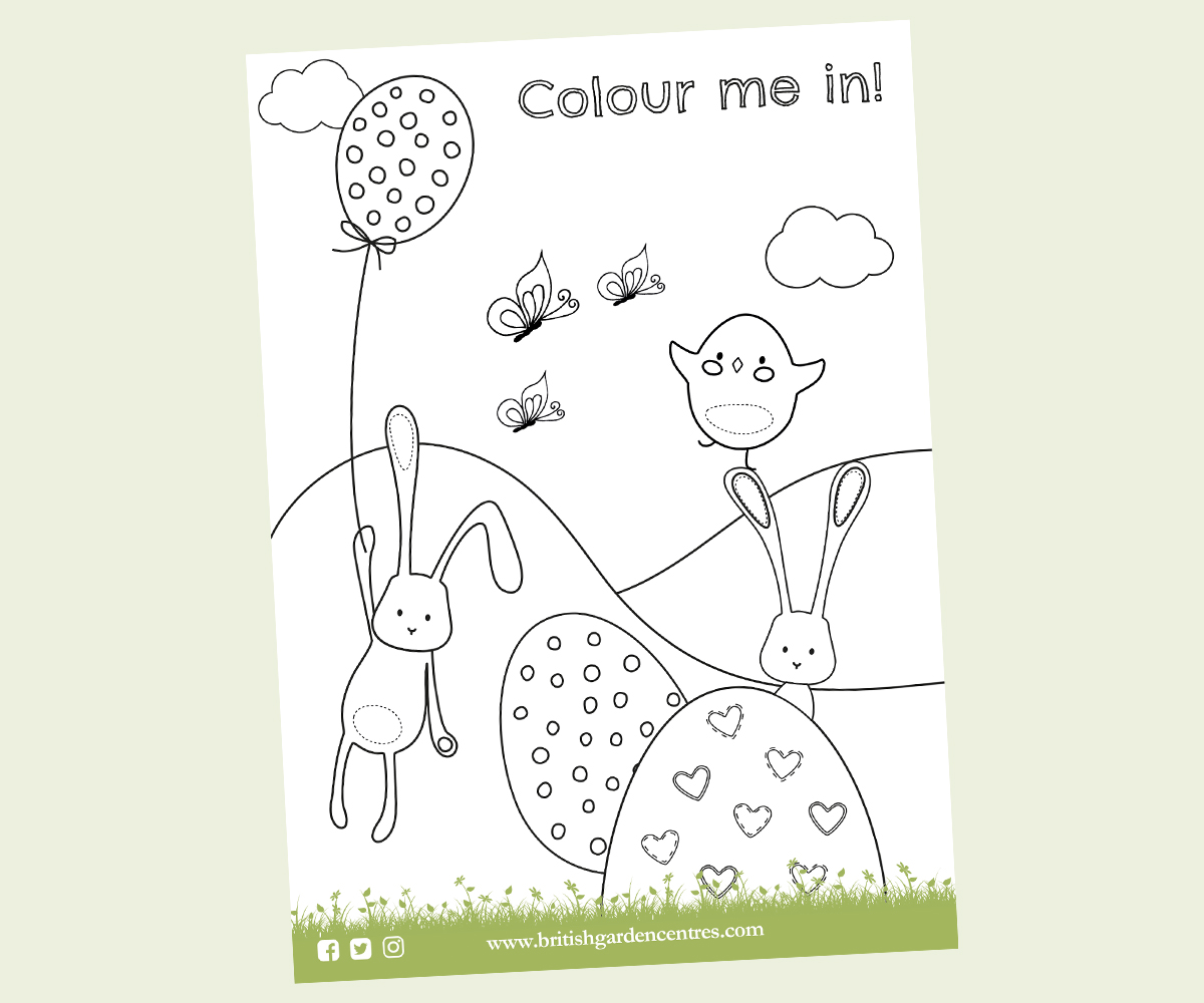 Easter colouring sheet 1