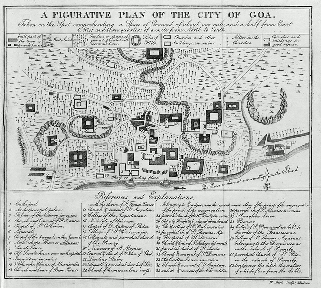 A Figurative Plan of the City of Goa, 1831.