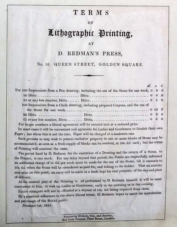 Redman's price-list of about 1815. © The Trustees of the British Museum. Museum No. 1874, 0711.1075.