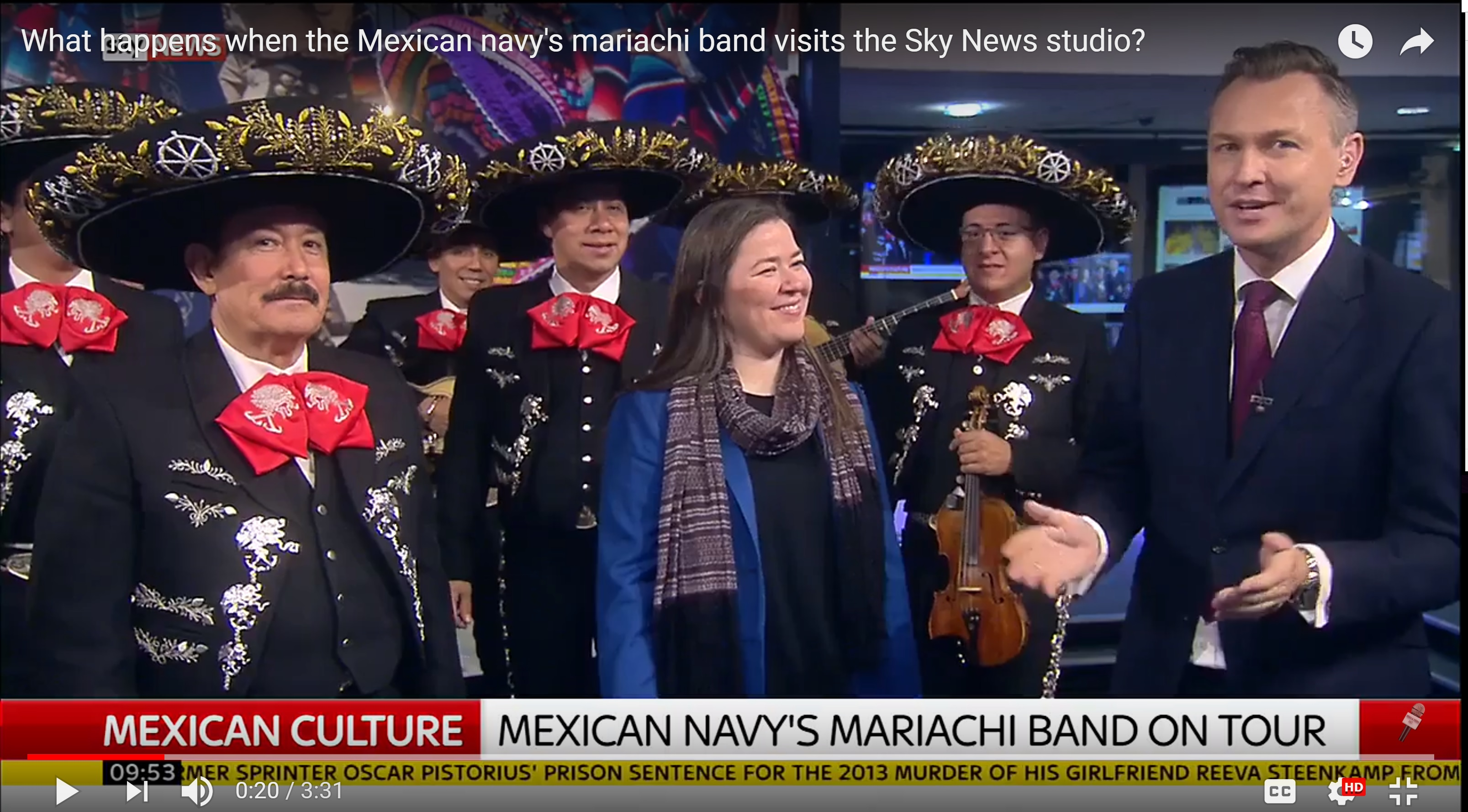 What Happens When The Mexican Navys Mariachi Band Visits Sky News