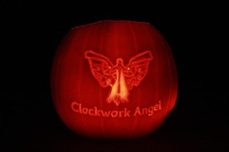 Clockwork Angel Pumpkin by Sarah at BritishNephilim.com