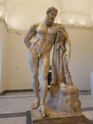 Weary Hercules Number 1 at Museo Archeologico Nazionale at Naples...