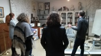 In the studio of De Chirico. Photo by Ellie Johnson.