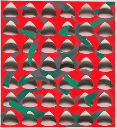 Vivien Zhang, 'Order, Oscillation, and Pretence Gesture (Shape Green)', 2013, oil on canvas, 51 x 56 cm
