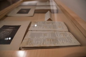 Small exhbition of photographs from the BSR John Henry Parker Collection accompanying John Osborne's Lecture. Photo by Antonio Palmieri.