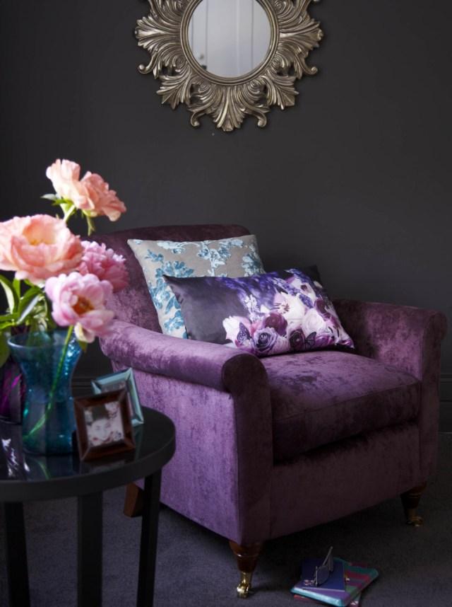 Tesco Direct Pemberley Armchair, Velvet Plum, £399
