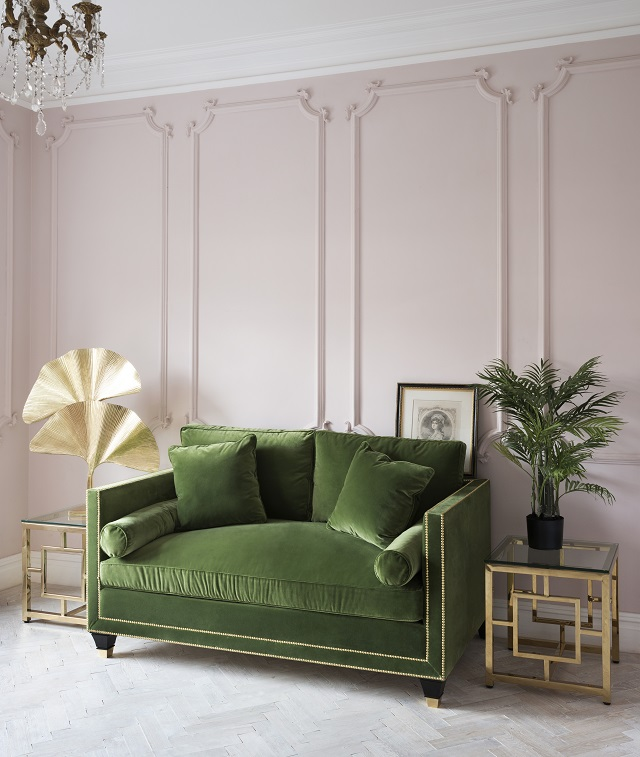green and pink interior