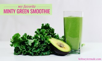 my favorite minty green smoothie l britney termale lifestyle blog & shop