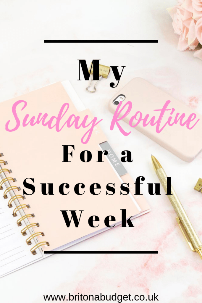 My Sunday routine for a successful week