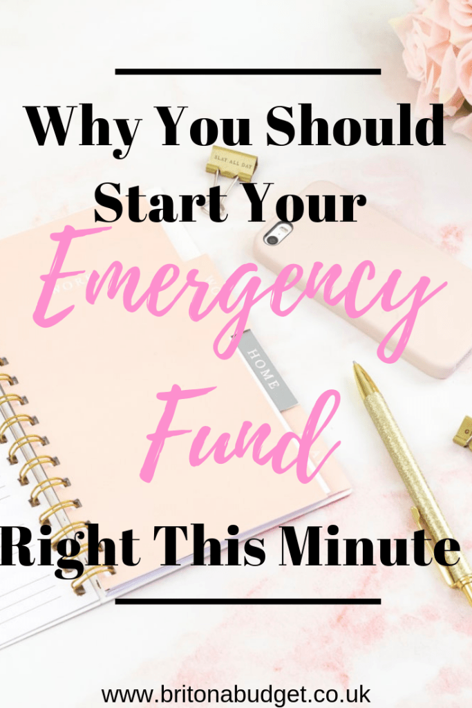 Why you should start your emergency fund right this minute