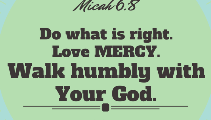 Walking Humbly with Your God