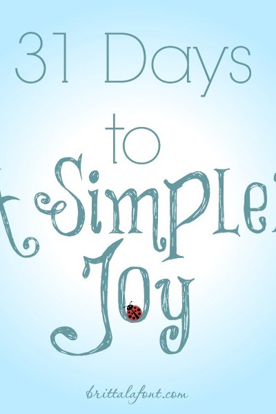 31 Days to #ASimplerJoy!