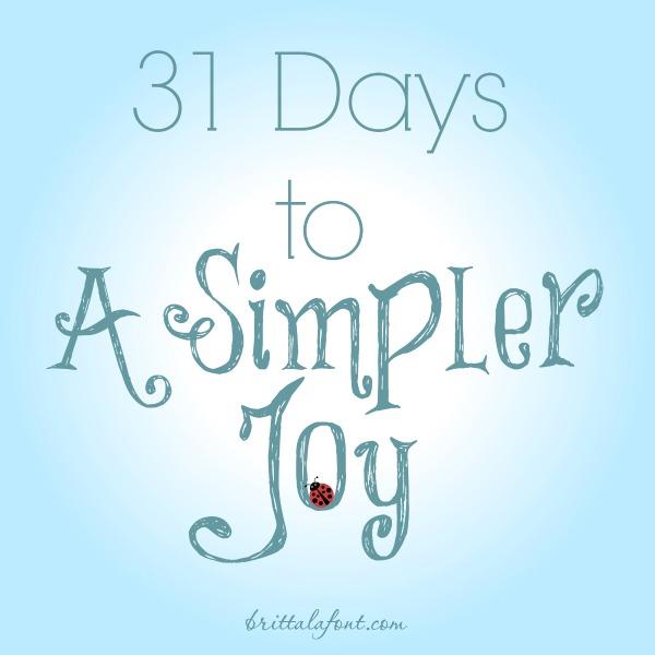 Britta Lafont 31days to AsimplerJoy