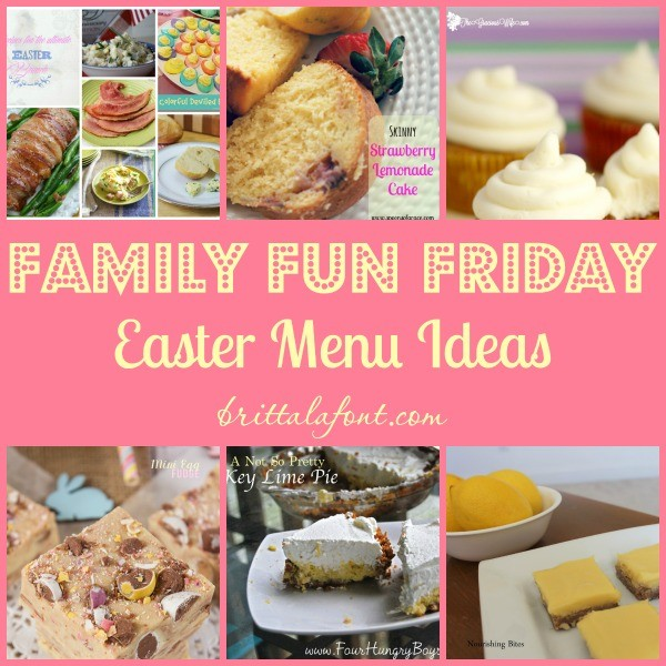 Easter Menu ideas Family Fun Friday