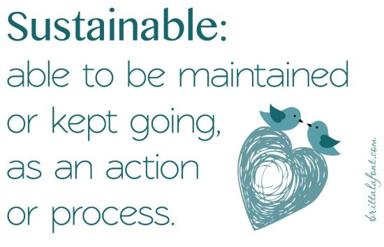 sustainable, viable, words for life