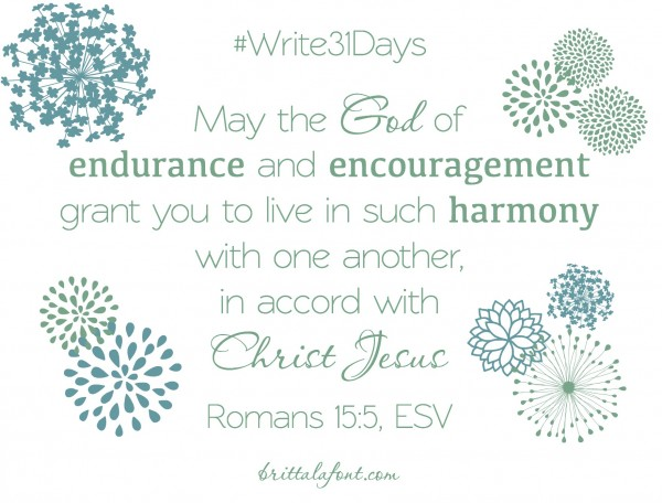Romans 15.5 Write31Days