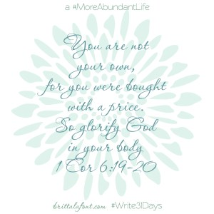 Glorify God #Write31Days