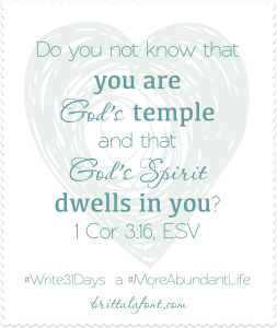 God's Temple #Write31Days