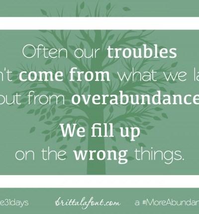 Just-Right Abundance…