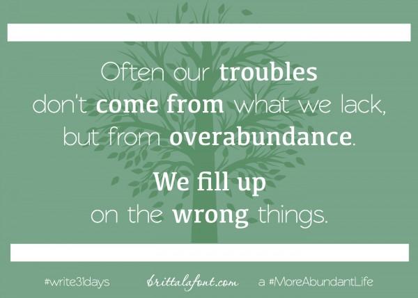 overabundance