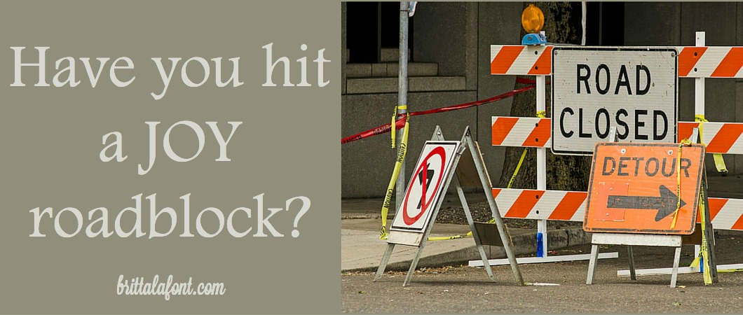 Have you hit a joy roadblock? Need a guide to find your way?