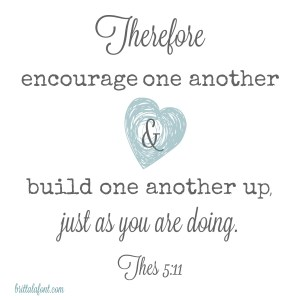 Meet Me in the Middle, so we can Encourage One Another
