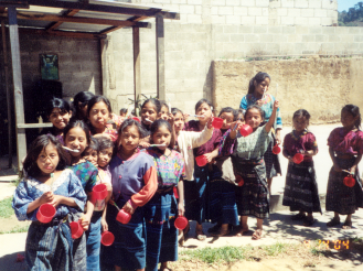 Memories/Culture: Mayan girls at Proximos Pasos where I worked in Santa Maria de Jesus, Guatemala, 2004