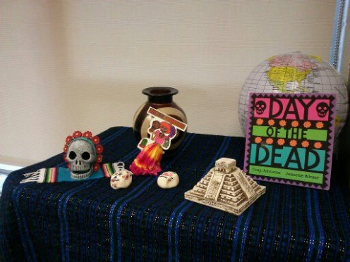 Day of the Dead display in my classroom