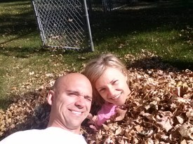 fun in our leaf pile