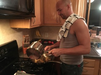 sexy hubbie in the kitchen