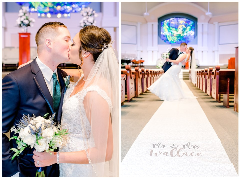 bride and groom portraits in chapel
