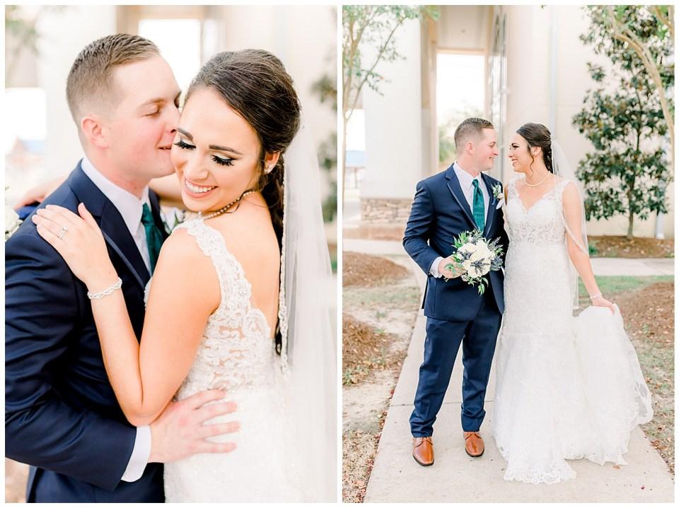 bride and groom portraits in denham springs la