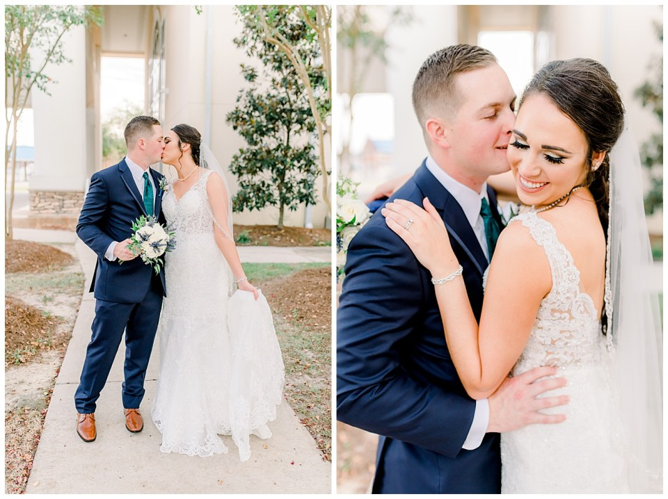 bride and groom portraits in baton rouge