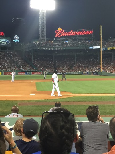 Red Sox with Ginny
