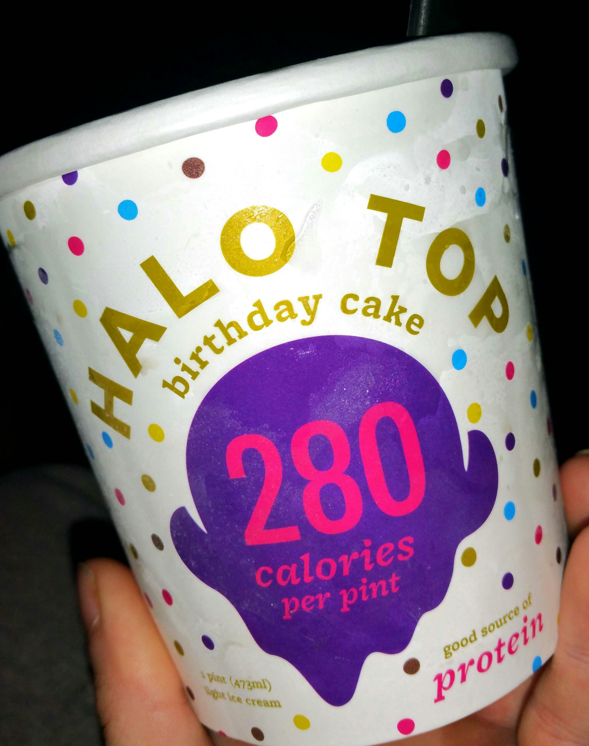 Product Review Halo Top Ice Cream Birthday Cake