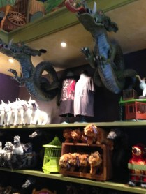 Inside the magical pet store.
