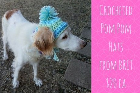 Crocheted Brittany Hat with Pom-Pom